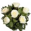Media docena de rosas blancas de regalo