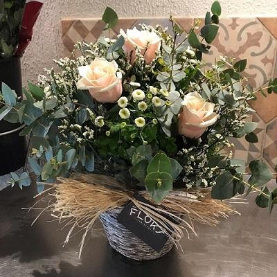 cesta 3 rosas