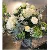 Centro de hortensias y rosas