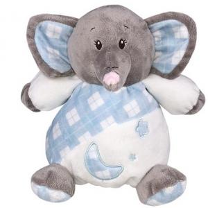 Elefante azul de peluche