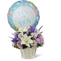 Flores para bebé con globo