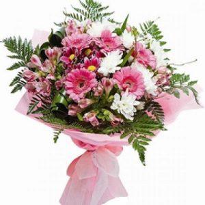 Ramo blanco y rosa
