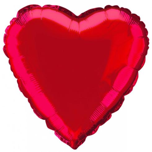 Globo forma corazón color rojo