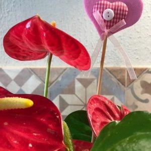 Pick Corazón rosa