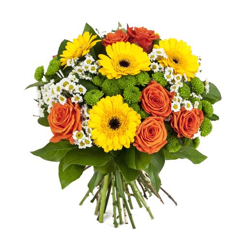 ramo variado con rosas flores de colores