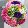 ramo novia contraste colores