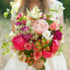 ramo novia peonia y frutos