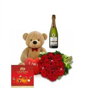20 rosas con pack regalo
