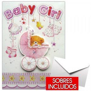 Tarjeta de nacimiento niña