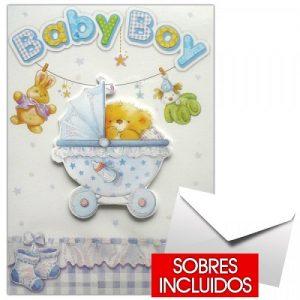 Tarjeta de nacimiento niño