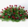 cojin funeraria rosas rojas