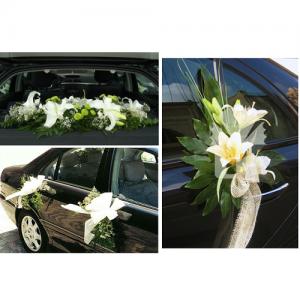 Flores del coche novia