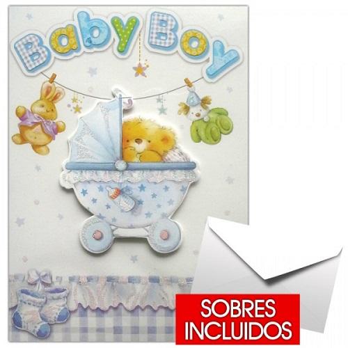 tarjeta para nacimiento niño